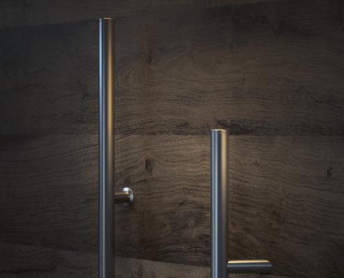 Navadni inox ročaji za vhodna vrata - Basic inox door handles for front doors - Basis Edelstahl-Türgriffe für Eingangstür - Griffing