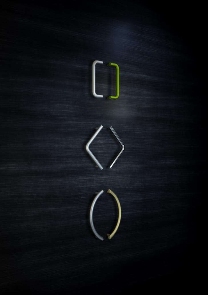 Inox external door handles in C, V and U shape-Griffing