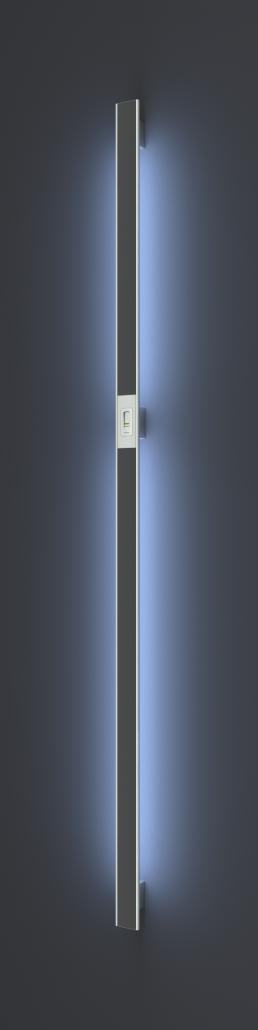 Vision Line C class inox premium ročaji za vhodna vrata z odprtimi robovi, aluminijastim vstavkom, čitalnikom prstnih odtisov in LED svetili_Griffing