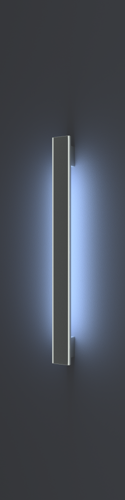 Vision Line C class inox premium ročaj za vhodna vrata z odprtimi robovi, aluminijastim vstavom in LED svetili_Griffing