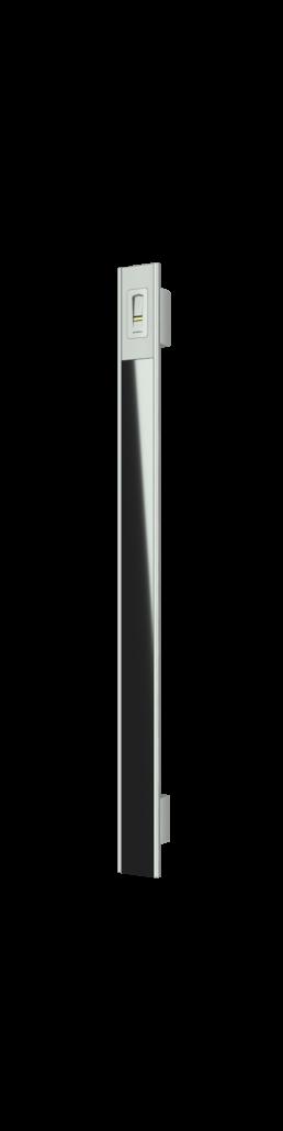 Vision Line C class inox premium ročaj za vhodna vrata z odprtimi robovi, steklenim vstavkom in čitalnikom prstnih odtisov_Griffing