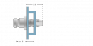 Vpetje VRS za ALU profile za inox ročaje za vhodna vrata-Griffing