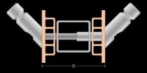 VPO vpetje za PVC profile - VPO fasteners for PVC profile - VPO Einspannungen für PVC-Profile - Griffing