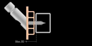 VPU hochwertig Befestigung fuer 45-Grad Tuergriffe-Griffing