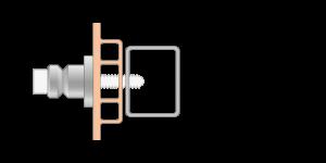 Vpetje VRU za PVC profile za inox ročaje za vhodna vrata-Griffing