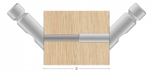 Vpetje VPO za lesene panele za inox ročaje za vhodna vrata-Griffing