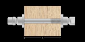 VRO vpetje za lesene panele - VRO fasteners for wooden panels - VRU Einspannungen für Holz-Paneele - Griffing