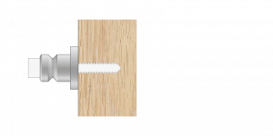 Vpetje VRU za lesene panele za inox ročaje za vhodna vrata-Griffing
