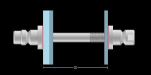 Vpetje VROS za kombinacije stekla in ALU panelov za inox ročaje za vhodna vrata-Griffing