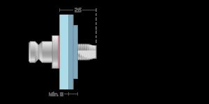 Vpetje VRSS za steklo in ALU panele za inox ročaje za vhodna vrata-Griffing