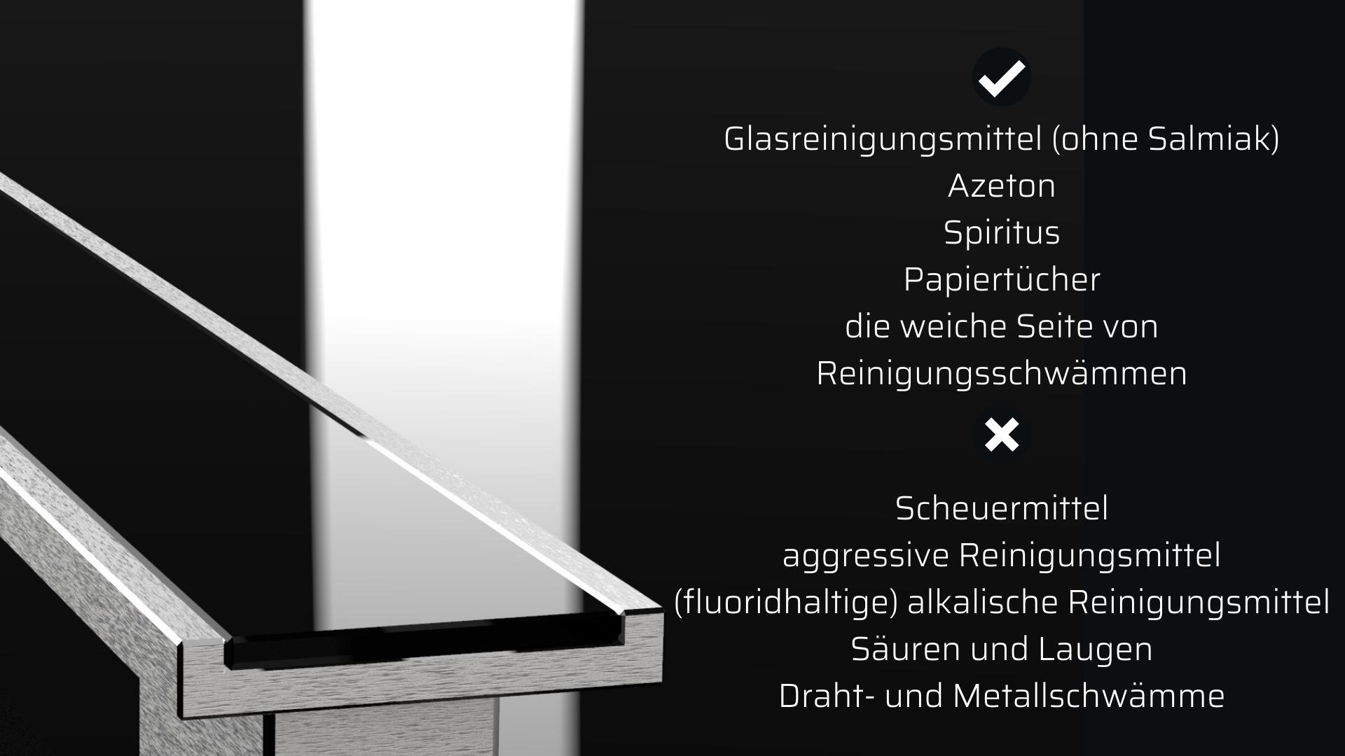 Pflege und Wartung von Glaseinlagen-Griffing