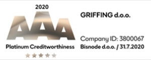 Platinum Creditworthiness Certificate AAA 2020 - Griffing