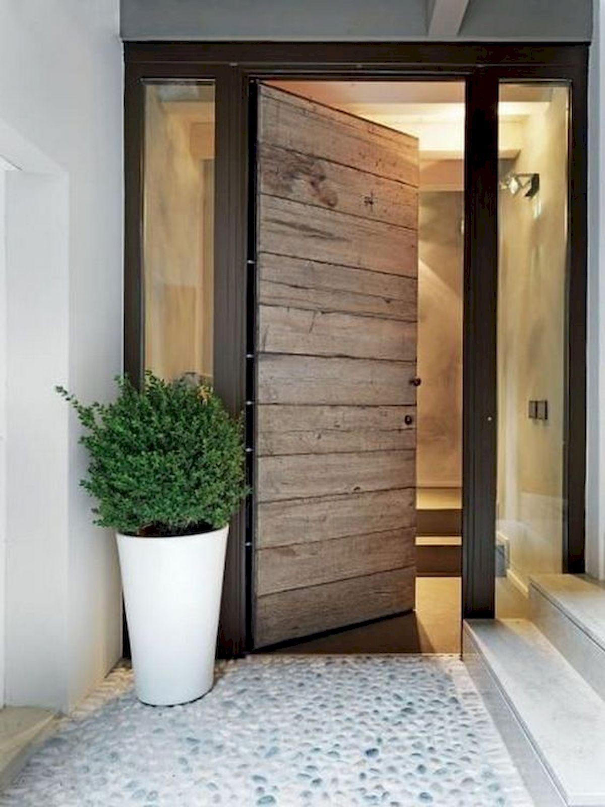 Minimalističen dizajn vhodnih vrat-vir-Pinterest