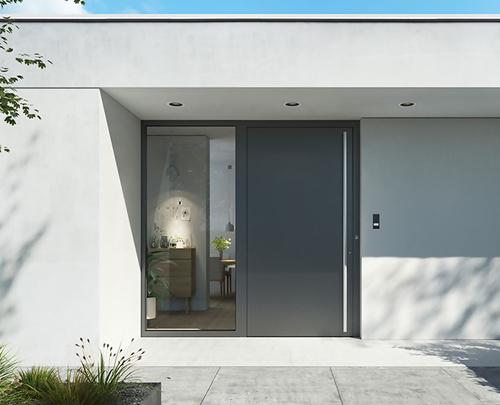 Minimalističen dizajn vhodnih vrat-vir-Schueco