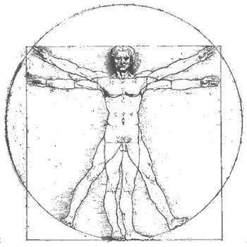 Vitruvijev človek Leonarda da Vincija