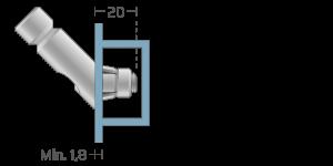 VPA vpetje za ALU profile- fastener for ALU profiles - Befestigung fuer ALU-Profile - Griffing