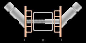 VPO vpetje za PVC profile- fastener for PVC profile - Befestigung fuer PVC Profile - Griffing