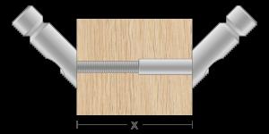 VPO vpetje za lesene panele- fastener for wooden panels - Befestigung fuer Holz-Paneele - Griffing