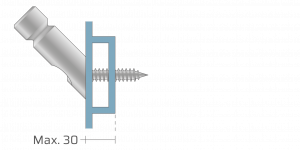 VPU vpetje za ALU profile- fastener for ALU profiles - Befestigung fuer ALU-Profile - Griffing