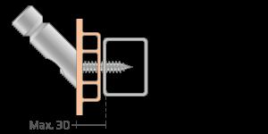 VPU vpetje za PVC profile- fastener for PVC profile - Befestigung fuer PVC Profile - Griffing