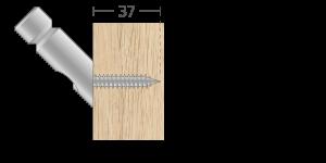 VPU vpetje za lesene panele- fastener for wooden panels - Befestigung fuer Holz-Paneele - Griffing