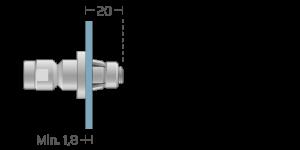 VRA vpetje za ALU panele- fastener for ALU panels - Befestigung fuer ALU-Paneele - Griffing