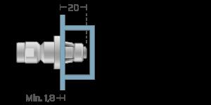 VRA vpetje za ALU profile- fastener for ALU profiles - Befestigung fuer ALU-Profile - Griffing