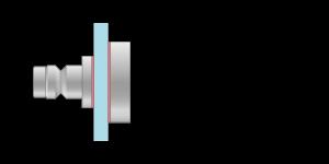 VRMS vpetje za steklo in ALU panele- fastener for glass and ALU panel - Befestigung fuer Glas und ALU paneele - Griffing