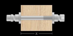 VRO vpetje za lesene panele- fastener for wooden panels - Befestigung fuer Holz-Paneele - Griffing
