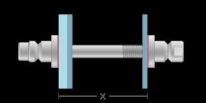 VROS vpetje za steklo in ALU panele- fastener for glass and ALU panel - Befestigung fuer Glas und ALU paneele - Griffing