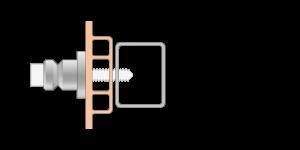 VRU vpetje za PVC profile- fastener for PVC profile - Befestigung fuer PVC Profile - Griffing