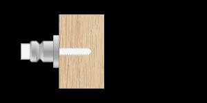 VRU vpetje za lesene panele- fastener for wooden panels - Befestigung fuer Holz-Paneele - Griffing