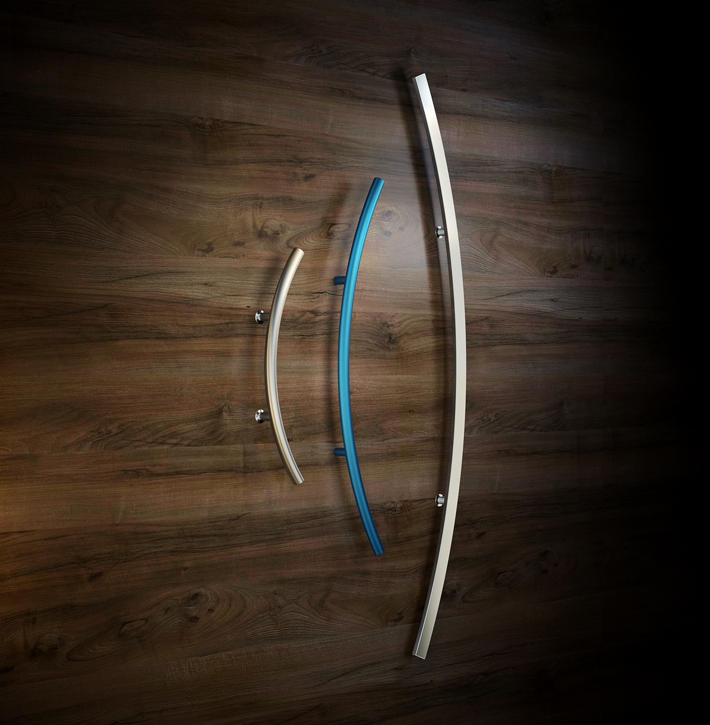 Personalizirali ročaji za vhodna vrata z različnim radijem ukrivljenosti - Personalized door handles for entrance doors with different curvature - Griffing