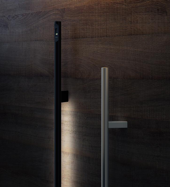 Ročaji s čitalnikom prstnih odtisov - Door handles with fingerprint reader - Haustuergriffe mit Fingerscanner - Griffing