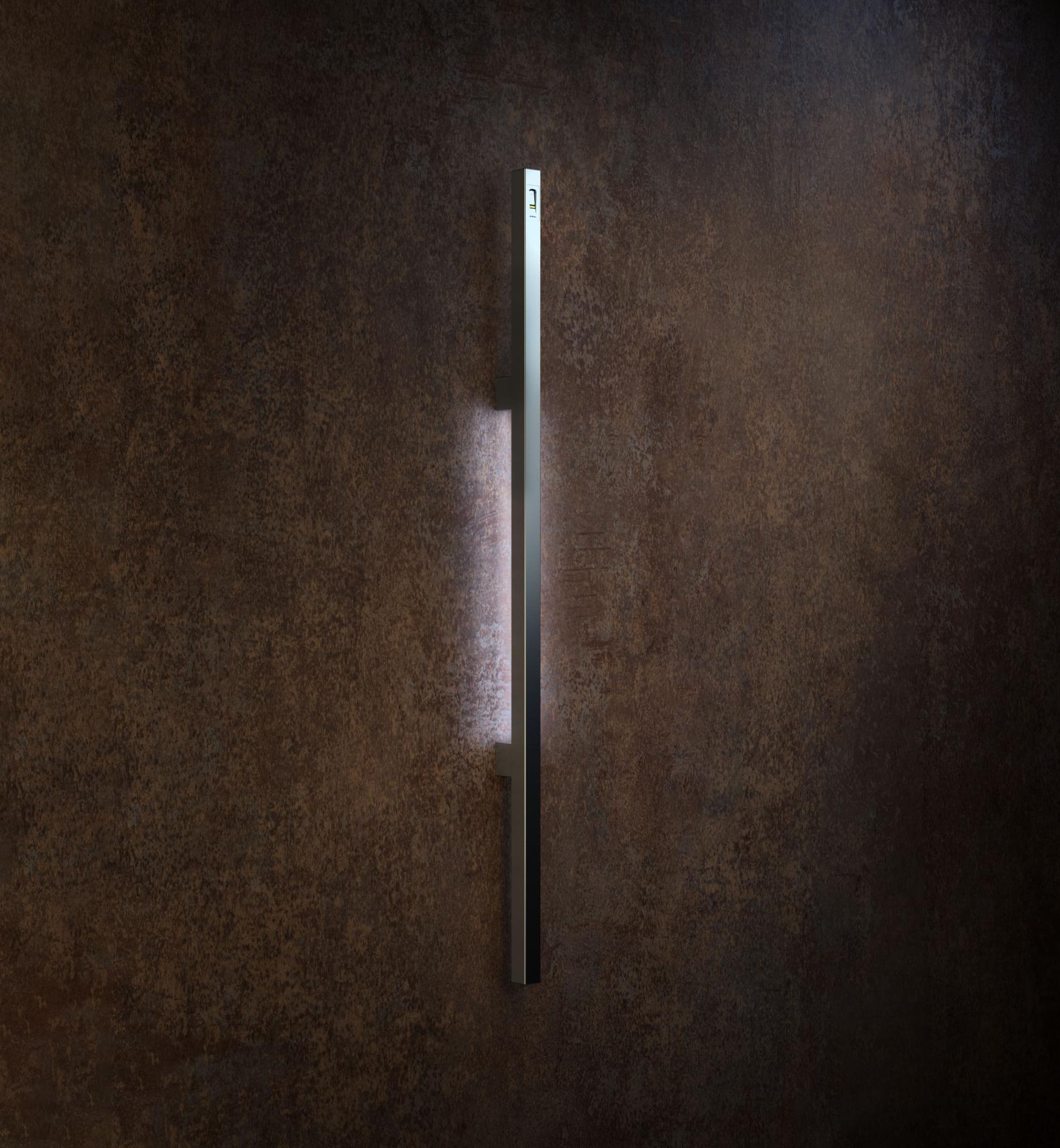 Kvadraten ročaj za vhodna vrata z vgrajenim čitalnikom prstnih odtisov ekey - Square pull handle with ekey fingerprint reader - Griffing
