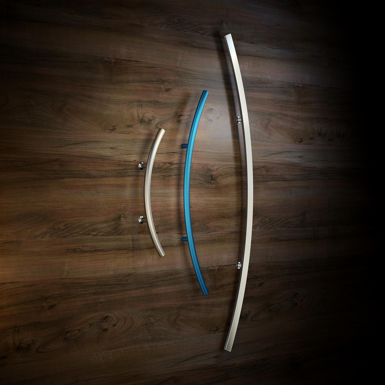 Ukrivljeni ločni ročaji za vhodna vrata - Arced door handles - Griffing