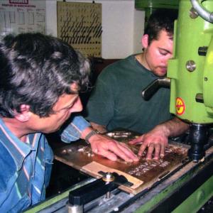 O podjetju-Andrej Češarek s sinom Urbanom Češarkom o začetkih-About Griffing-Andrej Češarek with his son Urban Češarek-Griffing